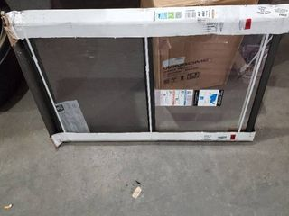 larson l201ES Storm Window  Brown 28W x 39H
