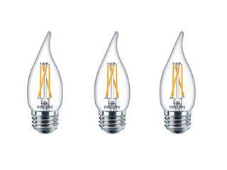 Philips B11 E26  Medium  lED Bulb Soft White 40 Watt Equivalence 3 pk   Case Of  1