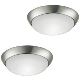 Project Source 2 Pack 11 in W Brushed Nickel lED Flush Mount light ENERGY STAR