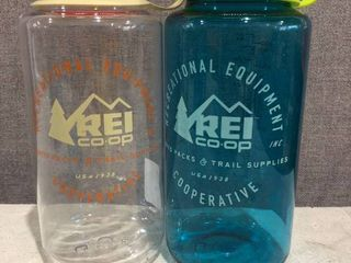 Rei Co op Nalgene Water Bottle   2 Pack   Wide Mouth 32 Oz  Bpa Free