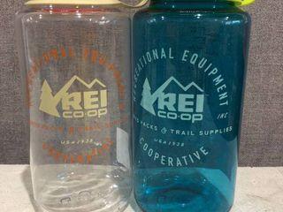Rei Co op Nalgene Water Bottle   2 Pack   Wide Mouth 32 Oz  Bpa Free