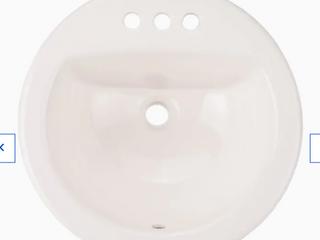 Aquasource 0289798 4  Centerset Faucet Holes Drop in Sink lavabo