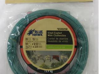 Blue Hawk 5x32in x 50ft PVC Clothesline