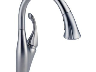 Delta Faucet 9192T AR DST Addison Single Handle Pull Down Kitchen Faucet with Touch2O Technology  Arctic Stainless