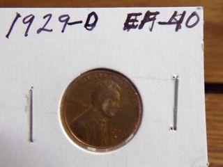 1929 D WHEAT PENNY EF40
