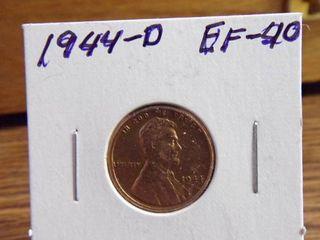 1944 D WHEAT PENNY EF40