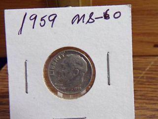 1959 ROOSEVElT DIME MS60