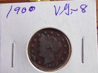 1900  V  NICKEl VG8
