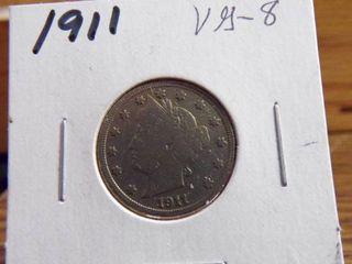 1911  V  NICKEl VG8