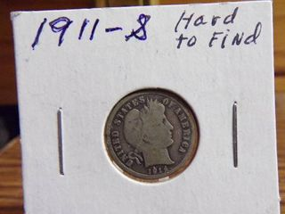 1911 S BARBER DIME   HARD TO FIND