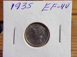 1935 MERCURY DIME EF40