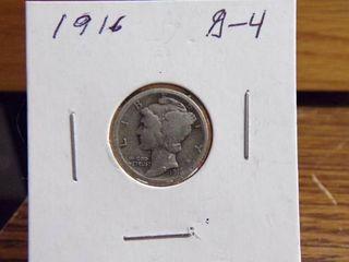 1916 MERCURY DIME G4