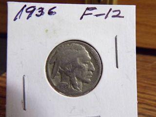 1936 BUFFAlO NICKEl F12