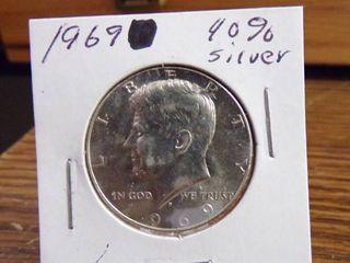 1969 KENNEDY HAlF   40  SIlVER