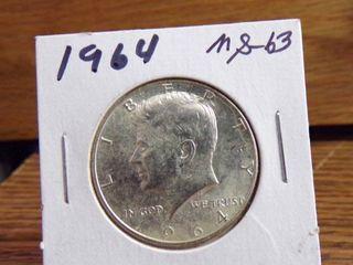 1964 KENNEDY HAlF MS63