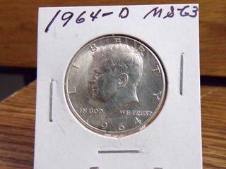 1964 D KENNEDY HAlF MS63