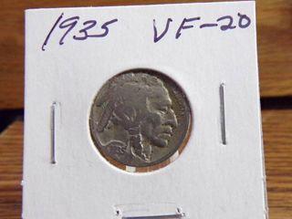 1935 BUFFAlO NICKEl VF20