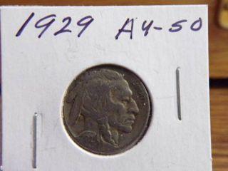1929 BUFFAlO NICKEl AU50