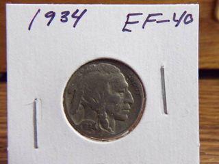 1934 BUFFAlO NICKEl EF40