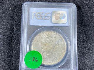 1934 S Peace Dollar  AU55