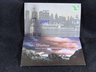 2007 P D Mint Set  UNC