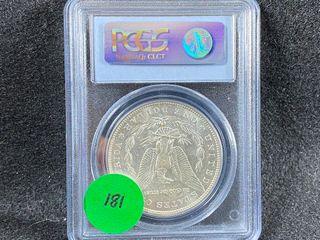 1896 O Morgan Dollar  AU58