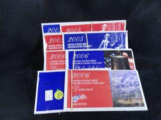 2  2005 P D    2  2006 P D Mint Sets  UNC  x4