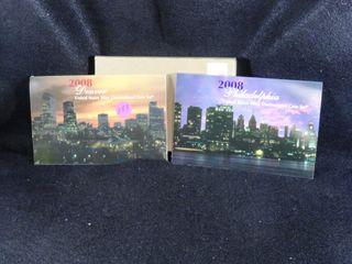 2  2008 P D Mint Sets  UNC  x2