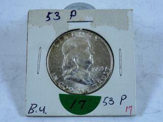 1953 Franklin Half Dollar  BU