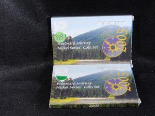2  2005 P D S Westward Journey US Mint Sets  PR UNC  x2