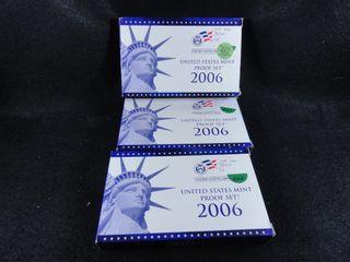 3  2006 S Proof Sets  x3