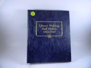 Book Walking liberty Half Dollars  1917 1947  x37