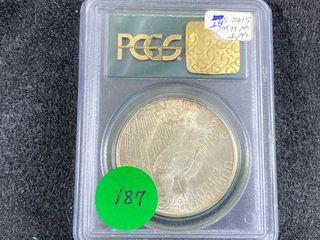1925 S Peace Dollar  MS61