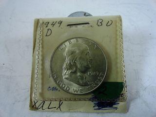 1949 D Franklin Half Dollar  BU