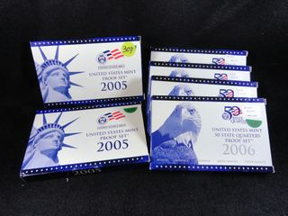 2  2005 S    4  2006 S 50 State Quarters Proof Sets  x6