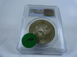 1859 O Seated liberty Dollar  AU55