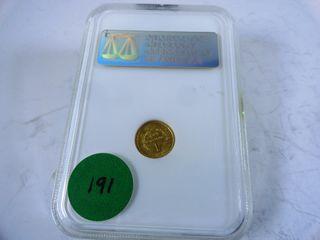 1849 Coronet Gold Dollar  MS61
