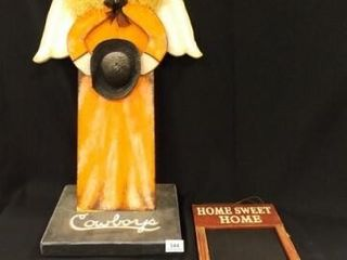 Wood OSU Cowboys Angel  Chalkboard