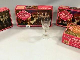 lady Victoria Crystal Stemware  4 Boxes