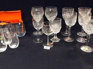 Stemware  10  including 2 Waterford