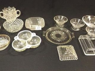 Glass Serving Type Pieces  12