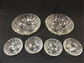 Glass Bubble Style Bowls  2  Fruit Bowls  4