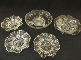 Glass Bowls  5  including Iris pattern