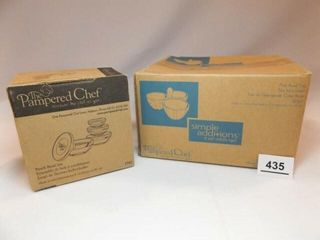 Pampered Chef Bowls   2 sets in boxes