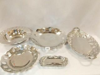 Silver Tone Trays  Bowl  5