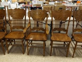Wood Carved Chairs  Matching  5