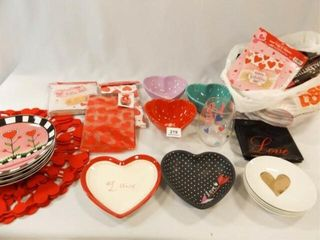 Valentine Decor  Bowls  Party Items  Etc