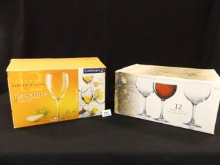Stemware in Boxes   2 boxes of 12 each