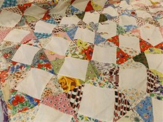 Pieced Quilt Top  77  x 96