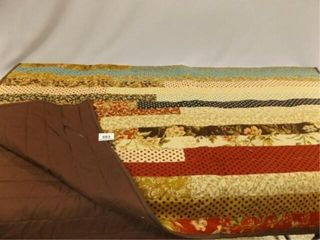 Pieced Throw  49  x 60  Autumn Tones